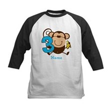 Personalized Monkey Boy 3rd Birthday Tee