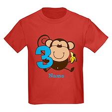 Personalized Monkey Boy 3rd Birthday T