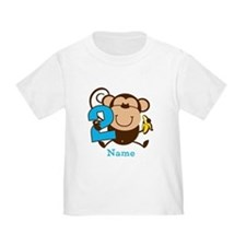 Personalized Monkey Boy 2nd Birthday T
