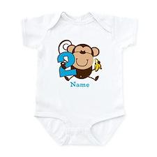 Personalized Monkey Boy 2nd Birthday Onesie