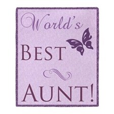 World's Best Aunt (Butterfly) Throw Blanket
