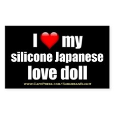 """I Love My Japanese Love Doll"" Decal"