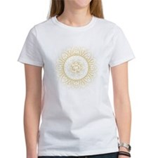 Yoga Mandala Henna Ornate Ohm Crown Black T-Shirt