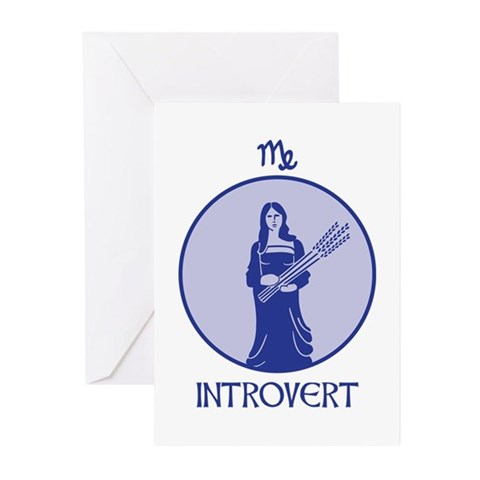 INTROVERT Greeting Cards