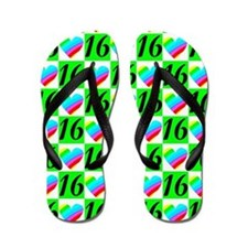 LOVE FILLED 16TH Flip Flops