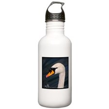 Mute Swan Portrait Water Bottle