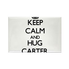 Keep calm and Hug Carter Magnets
