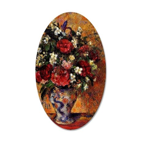 Pissarro - Vase of Flowers 35x21 Oval Wall Decal
