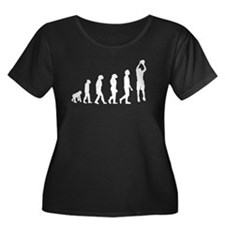Basketball Jump Shot Evolution Plus Size T-Shirt