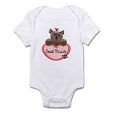 Small Miracle Yorkie Heart Baby/Toddler Bodysuits