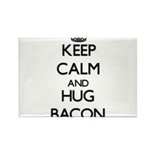 Keep calm and Hug Bacon Magnets