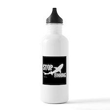 Stop Shark Finning Awareness Logo Water Bottle