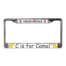 C is for Camel License Plate Frame