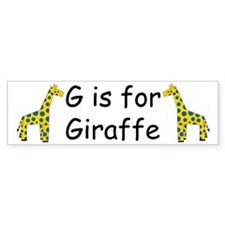 G is for Giraffe Bumper Bumper Sticker