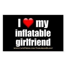 """Love My Inflatable Girlfriend"" Decal"