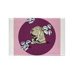 Yawning Chinese Shar Pei Rectangle Magnet (10 pack