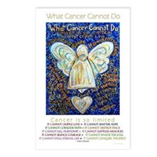 Blue & Gold Cancer Angel Postcards (Package of 8)