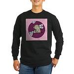 Yawning Chinese Shar Pei Long Sleeve Dark T-Shirt