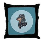 Longhaired Dachshund Throw Pillow