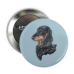 Longhaired Dachshund Button