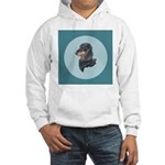 Longhaired Dachshund Hooded Sweatshirt