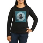 Longhaired Dachshund Women's Long Sleeve Dark T-Sh
