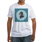 Longhaired Dachshund Fitted T-Shirt
