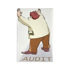 Audit Man Rectangle Magnet