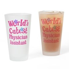 Worlds Cutest Physician Assistant Drinking Glass