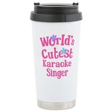 Worlds Cutest Karaoke Singer Travel Mug
