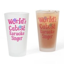 Worlds Cutest Karaoke Singer Drinking Glass