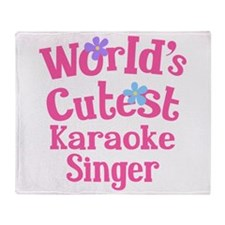 Worlds Cutest Karaoke Singer Throw Blanket