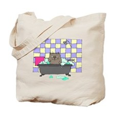 Cat Bath Tote Bag