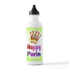 Happy Purim greeting c Water Bottle