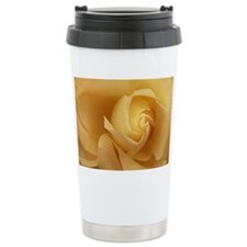 Gold Rose Folds Travel Mug