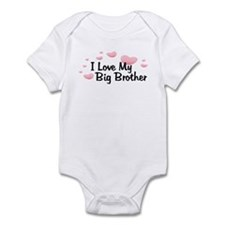 Love Big Brother Pink Hearts Baby bodysuits