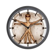Vitruvian Alien Wall Clock