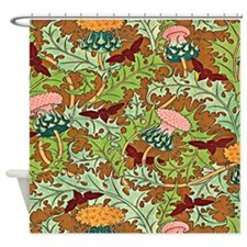Warm Thistle Shower Curtain