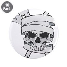 "Skull and Bones 3.5"" Button (10 pack)"