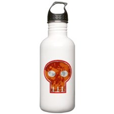 Orange Skull Water Bottle