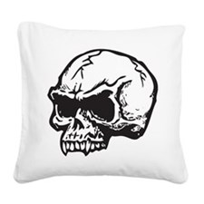 Vampire Skull Square Canvas Pillow