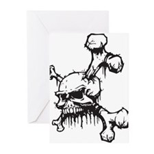 Skull and Bones Greeting Cards