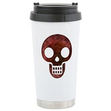 Textured Skull Travel Mug
