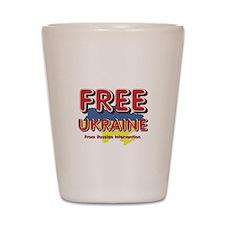 Free Ukraine Shot Glass
