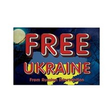 Free Ukraine Rectangle Magnet