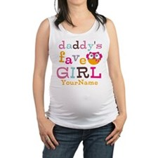 Daddys Favorite Girl Personalized Maternity Tank T