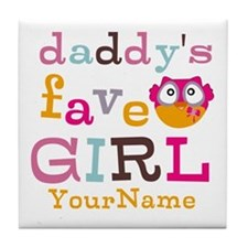 Daddys Favorite Girl Personalized Tile Coaster