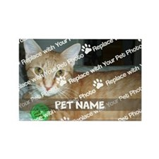 CUSTOMIZE Add Pet Photo and Name Magnets