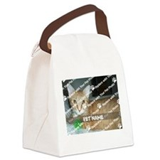 CUSTOMIZE Add Pet Photo and Name Canvas Lunch Bag