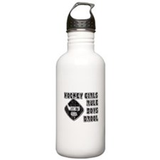 Hockey Girl Sports Water Bottle